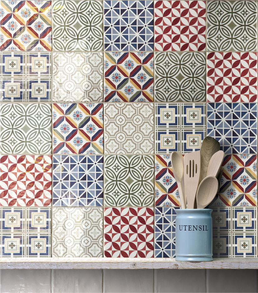 Retro Patchwork Tile Available At Smart Tiles Cumbria, Largest Stockist In  The Area!