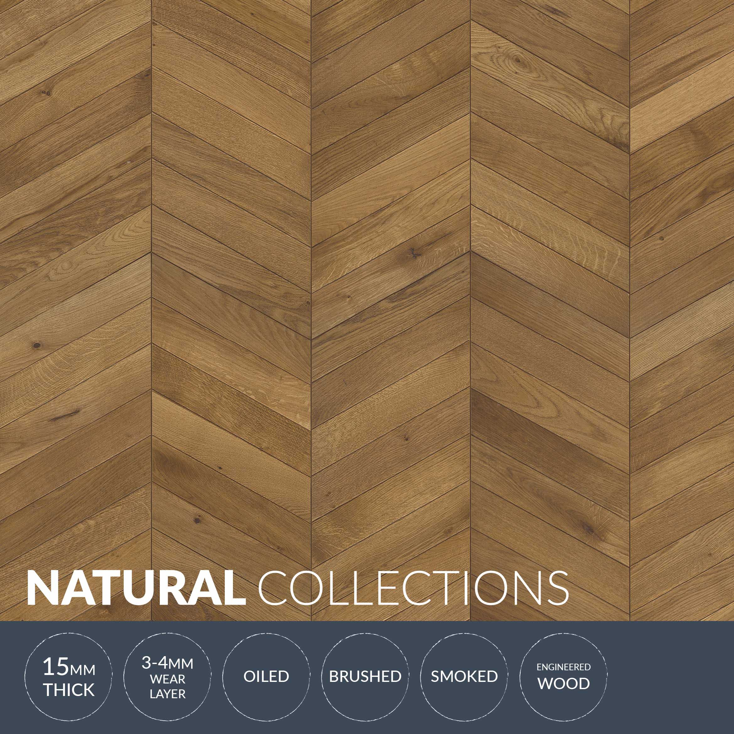 Chevron Oak Light Brown Wood Flooring