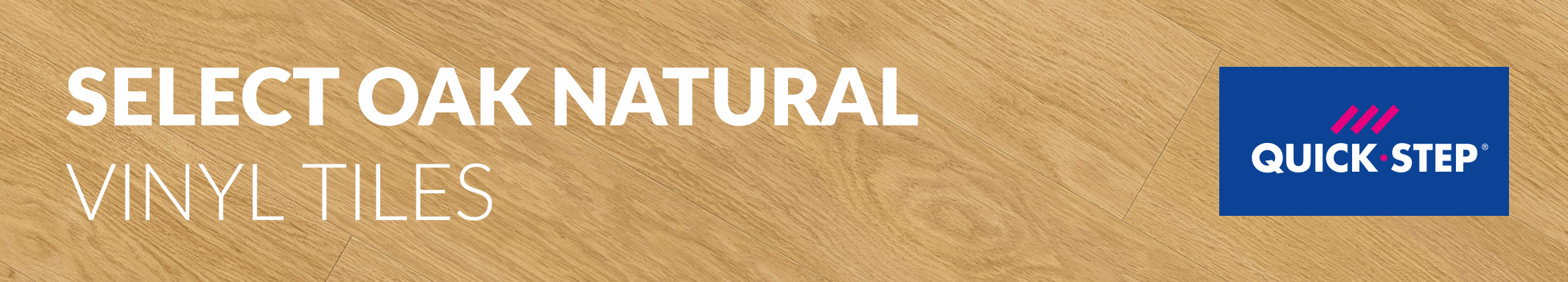 Select Oak Natural Quick-Step Vinyl Tiles